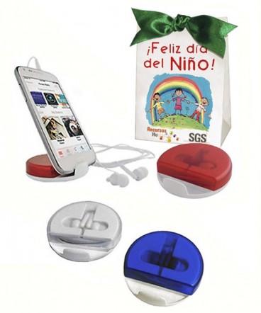 Auriculares soporte para celular regalo dia deL NIÑO