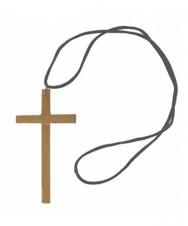 Cruz grande de madera en cordón