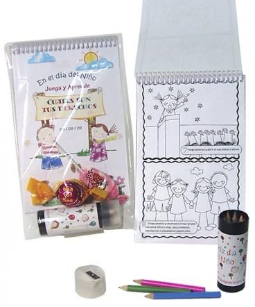 Libreta espiral para pintar con lapices regalo dia del niño