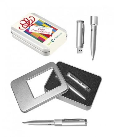 Bolígrafo con Pendrive 4GB regalo de cumpleaños