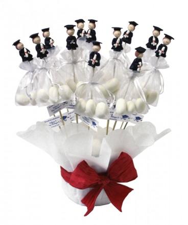 Base graduados cerámica huevos recuerdo Graduación