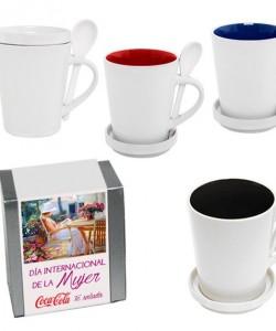 Set taza cerámica en caja regalo día de la MUJER