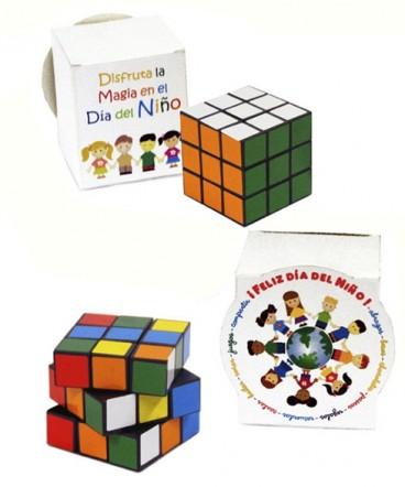 Cubo mágico en caja regalo día del niño