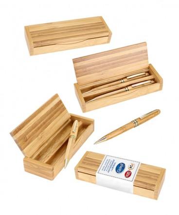 Set de Escritura de Bambú regalo de aniversario empresarial