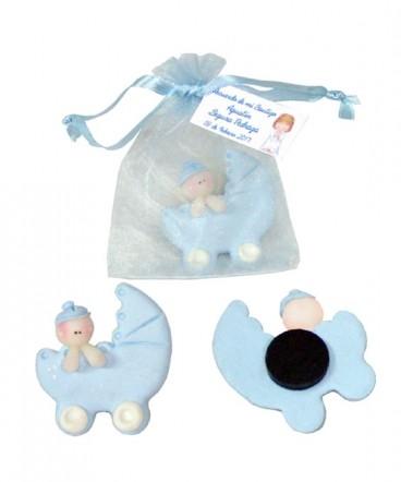 Bebé cuna ceramica recuerdo baby shower