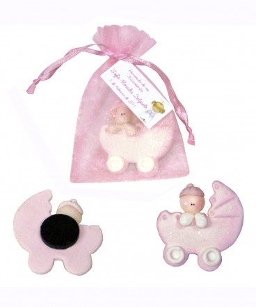 Bebé cuna cerámica recuerdo de bautizo