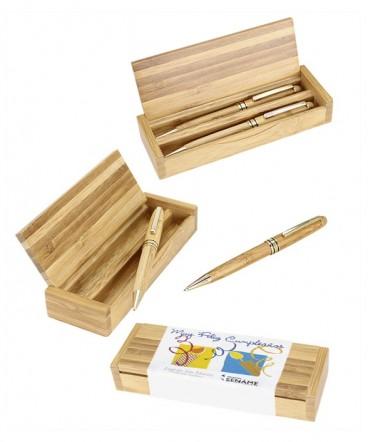 Set de Escritura de Bambú regalo de cumpleaños empresarial