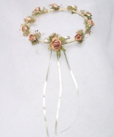 Corona country crudo flores damasco de primera comunión