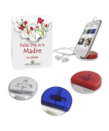Soporte de celular con audífonos bolso regalo día de la madre