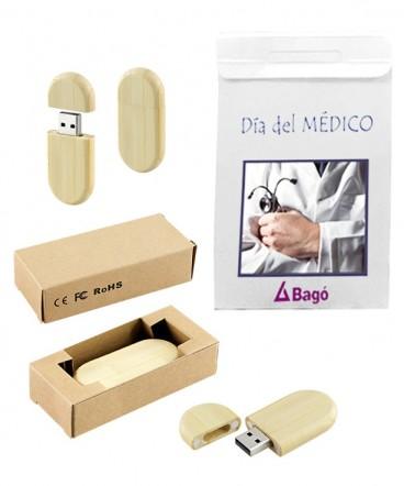 Pendrive 8GB de Bamboo bolso regalo día del médico