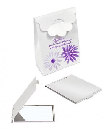 Espejo de aluminio en caja regalo día de la mujer