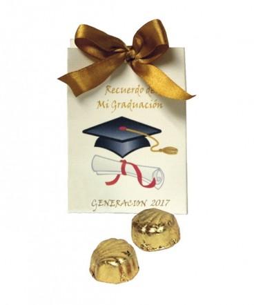 Bolso cinta bombones recuerdo de Graduación
