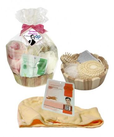 Spa 7 piezas en balde madera regalo día de la Secretaria