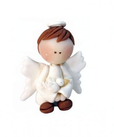 Cúpula de torta angel de cerámica Bautizo