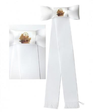 Brazalete cinta de raso pintada de Primera comunión