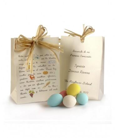 Bolsito con huevos almendra primera comunión