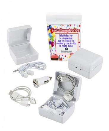 Kit de carga y audio regalo de cumpleaños