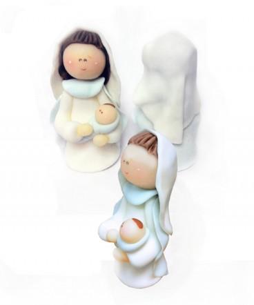 Cúpula torta Virgen de cerámica para Comunión