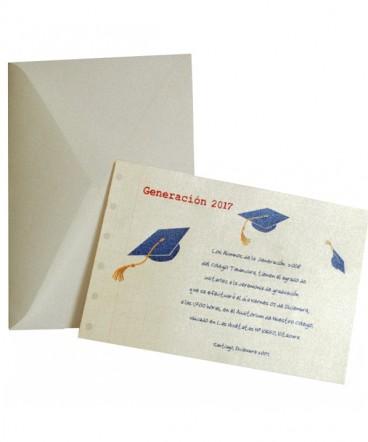 Invitacion a graduacion o licenciatura