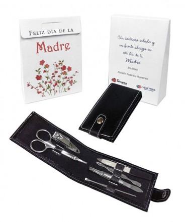Manicure estuche eco-cuero en bolso regalo dia de la madre