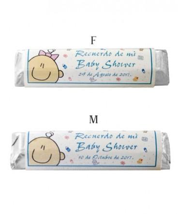 Chocolates etiquetas personalizadas de Baby Shower