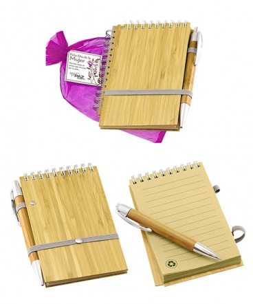 Libreta de Bamboo regalo día de la mujer