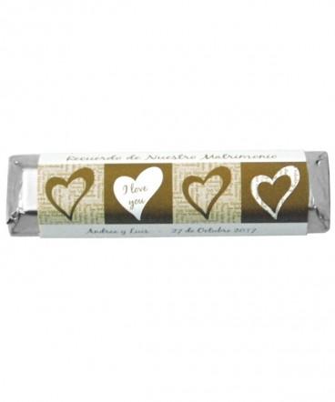 Chocolates etiquetas personalizadas de Matrimonio o Aniversario
