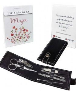Manicure estuche eco-cuero en bolso regalo dia de la Mujer