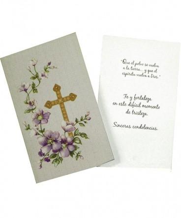 Tarjeta de condolencia