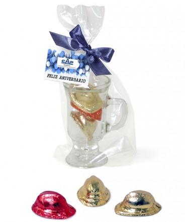 Tazoncito con bombones regalo aniversario laboral
