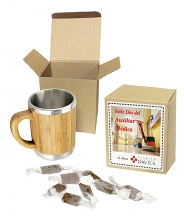 Tazón de Bamboo regalo dia paramédico