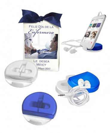 Auriculares soporte para celular regalo dia de Enfermera