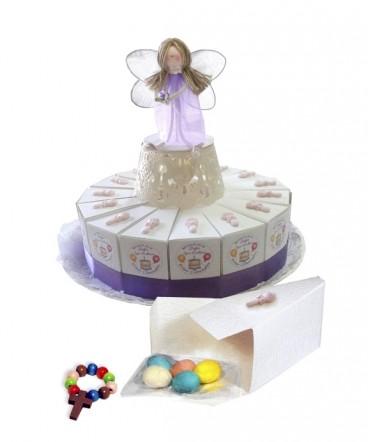 Torta 15 cajitas porción con ceramica recuerdo cumpleaños