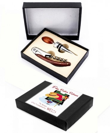 Set de bar caja cartón regalo de Fiestas Patrias