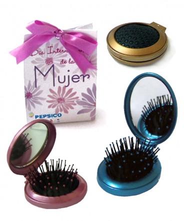 Cepillo espejo bolso regalo día de la mujer