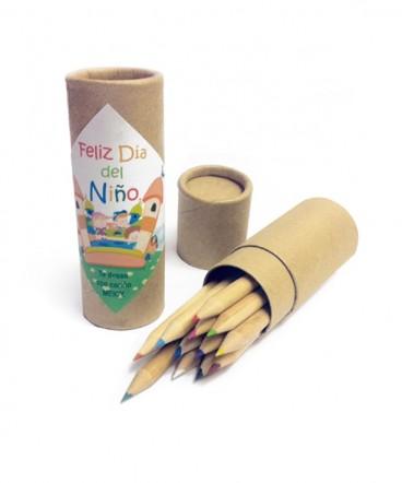 Tubo lápices regalo día del niño
