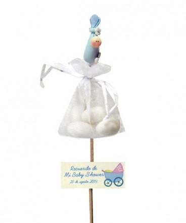 Bebe bolsa cerámica brochetas recuerdo Baby Shower