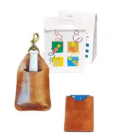 Set Porta tarjetas y desinfectante regalo de cumpleaños