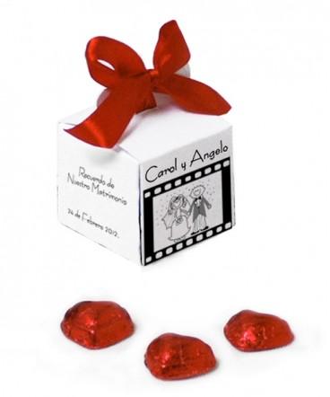 Cajita cinta película novios recuerdo de matrimonio