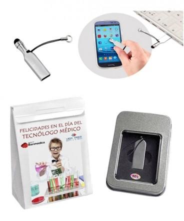 Pendrive metálico de 8 GB regalo de tecnólogo medico