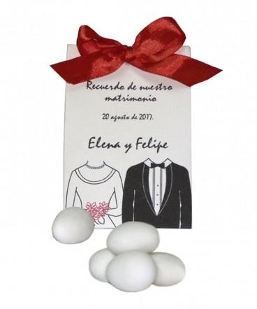 Bolso cinta recuerdo de matrimonio o aniversario