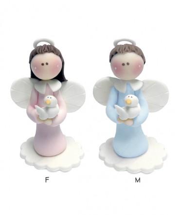 Cúpula torta angel paloma de cerámica para Bautizo
