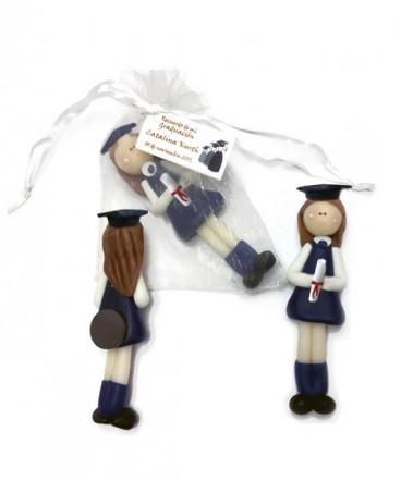 Escolar graduada cerámica imantado recuerdo de graduación