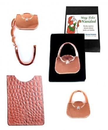 Tarjetero con porta cartera regalo de navidad