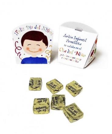 Caja carita niÑo con calugas regalo dÍa del niÑo