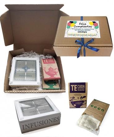 Set té caja regalo e cumpleaños