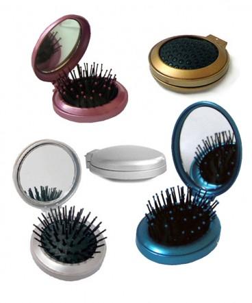 Cepillo espejo de cartera