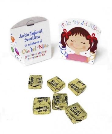 Cajita carita niña con calugas regalo Día del niño