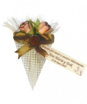Ramo dos flores Recuerdo de matrimonio o aniversario