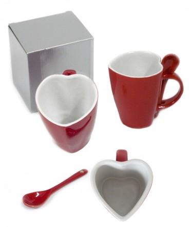 Taza corazon con cuchara